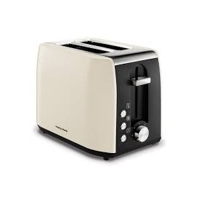 Morphy Richards Equip Ivory Cream Stainless Steel 2 Slice Toaster