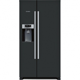 bosch series 6 side by side fridge freezer black american fridge. Black Bedroom Furniture Sets. Home Design Ideas