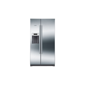 BOSCH American-Style Fridge Freezer Water and Ice Stainless Steel