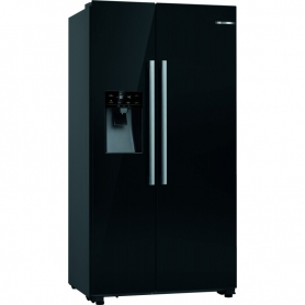 Bosch Black KAD93VBFPG No frost American fridge freezer.